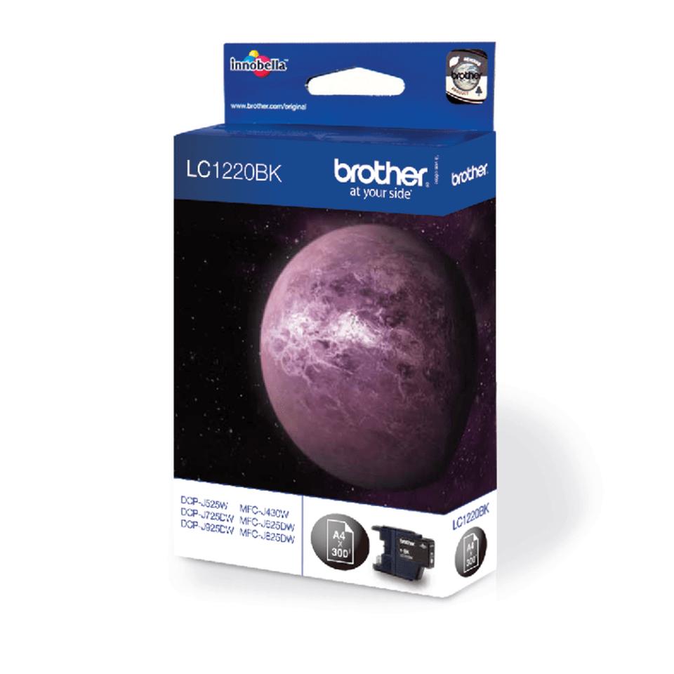 Originele Brother LC-1220BK zwarte inktcartridge 2