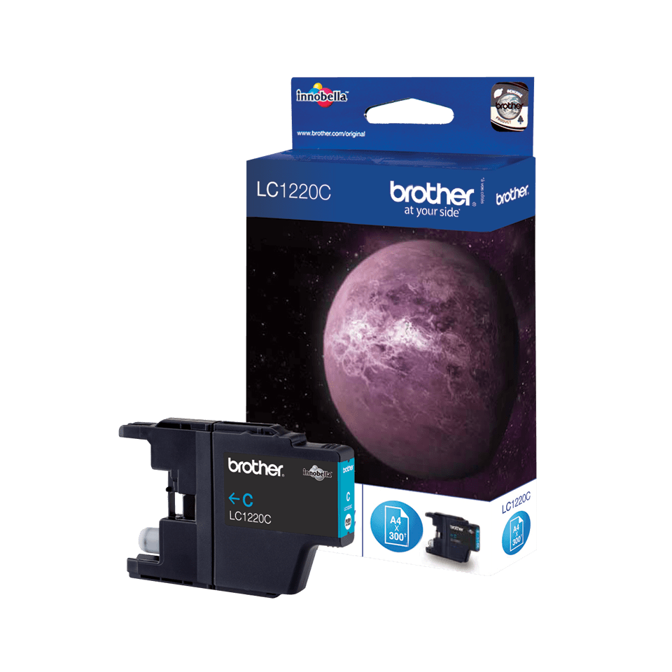 Originele Brother LC-1220C cyaan inktcartridge 2