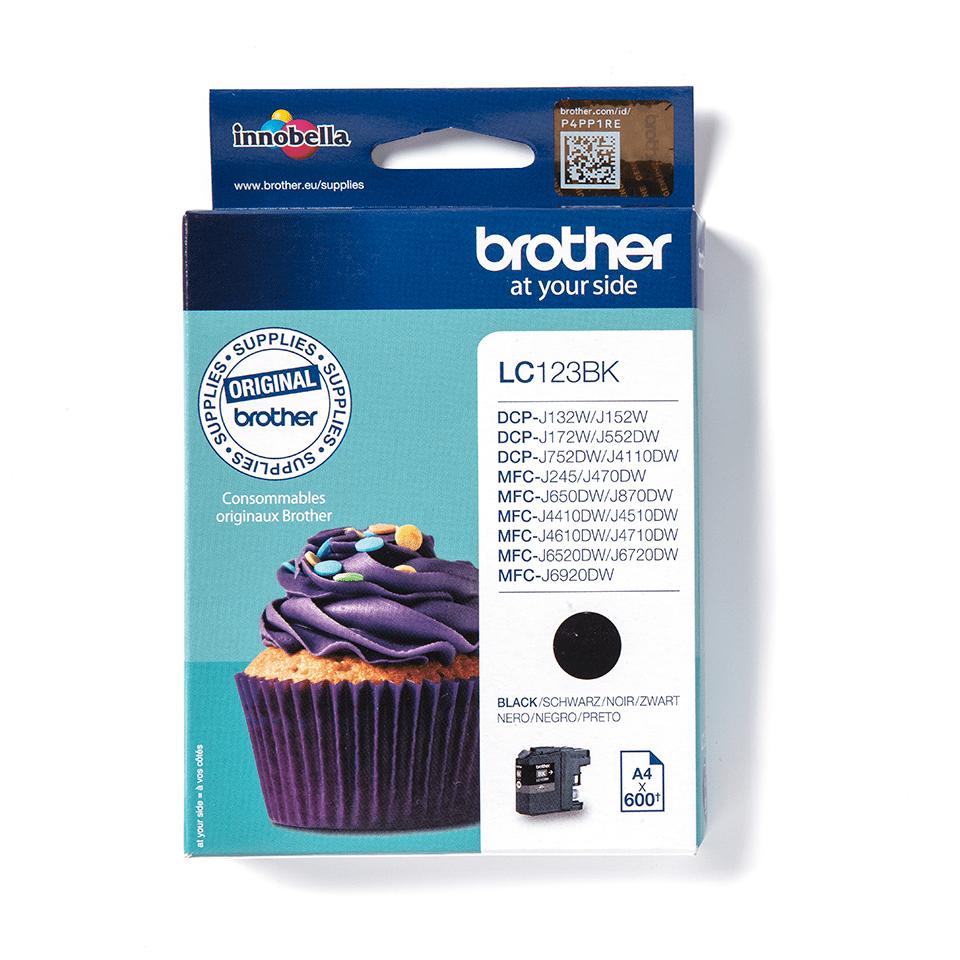Originele Brother LC-123BK inktcartridge – zwart