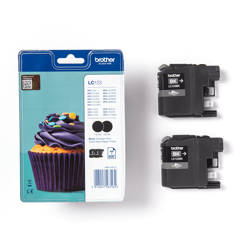 Originele Brother LC-123BKBP inktcartridge 2