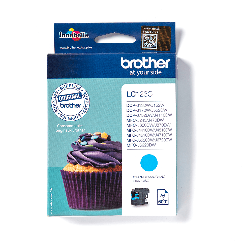 Originele Brother LC-123C cyaan inktcartridge