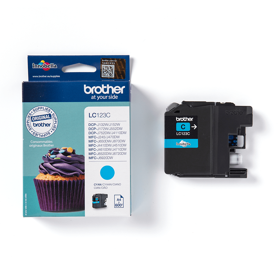 Originele Brother LC-123C cyaan inktcartridge 2