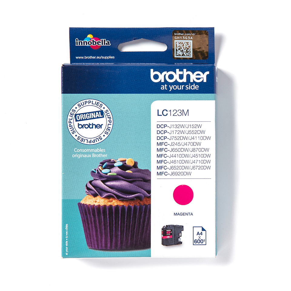 Originele Brother LC-123M magenta inktcartridge
