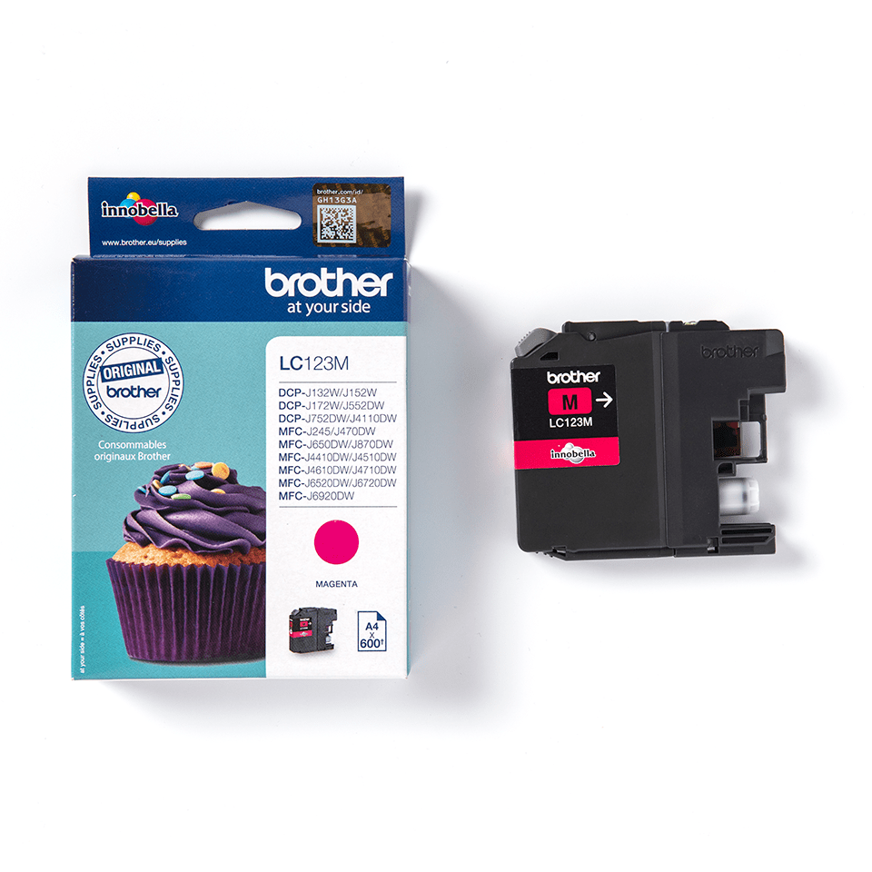 Originele Brother LC-123M magenta inktcartridge 3