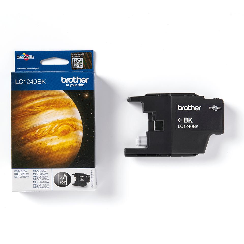 Originele Brother LC-1240BK zwarte inktcartridge  2
