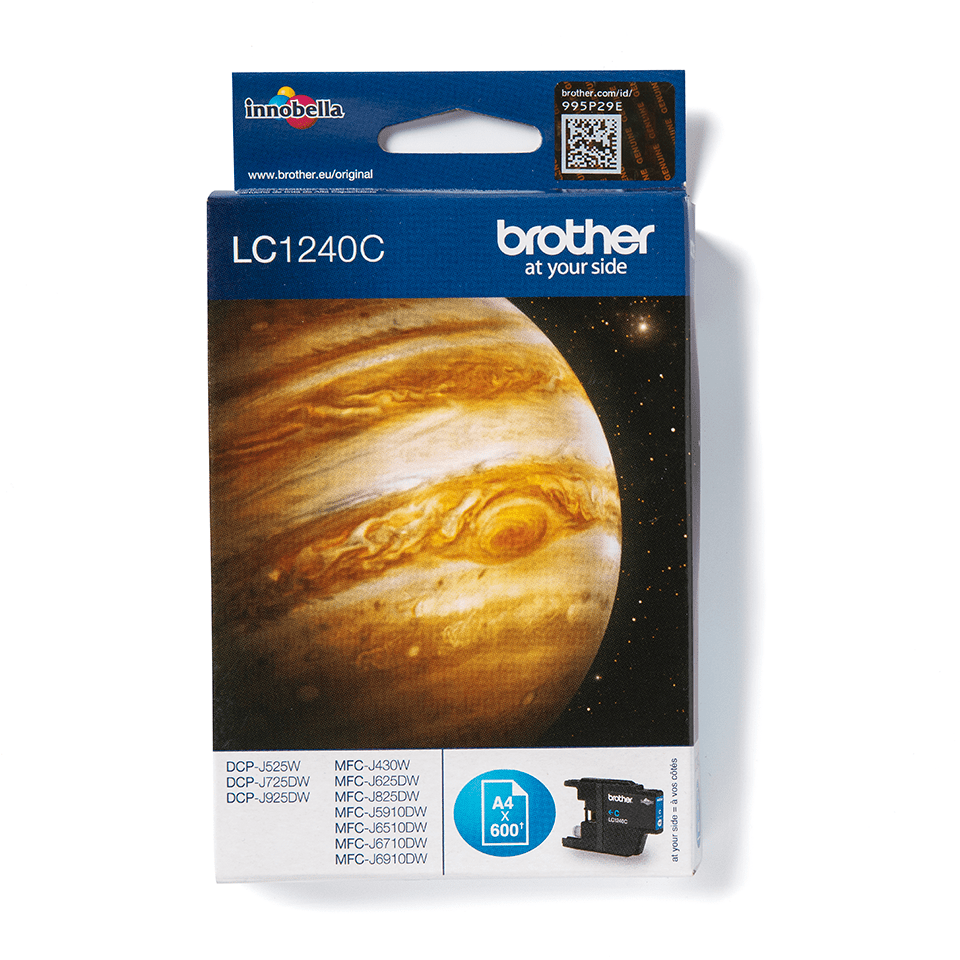 Originele Brother LC-1240C cyaan inktcartridge 2