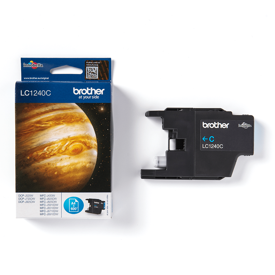 Originele Brother LC-1240C cyaan inktcartridge 2