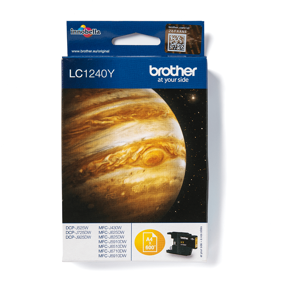 Originele Brother LC-1240Y gele inktcartridge  2