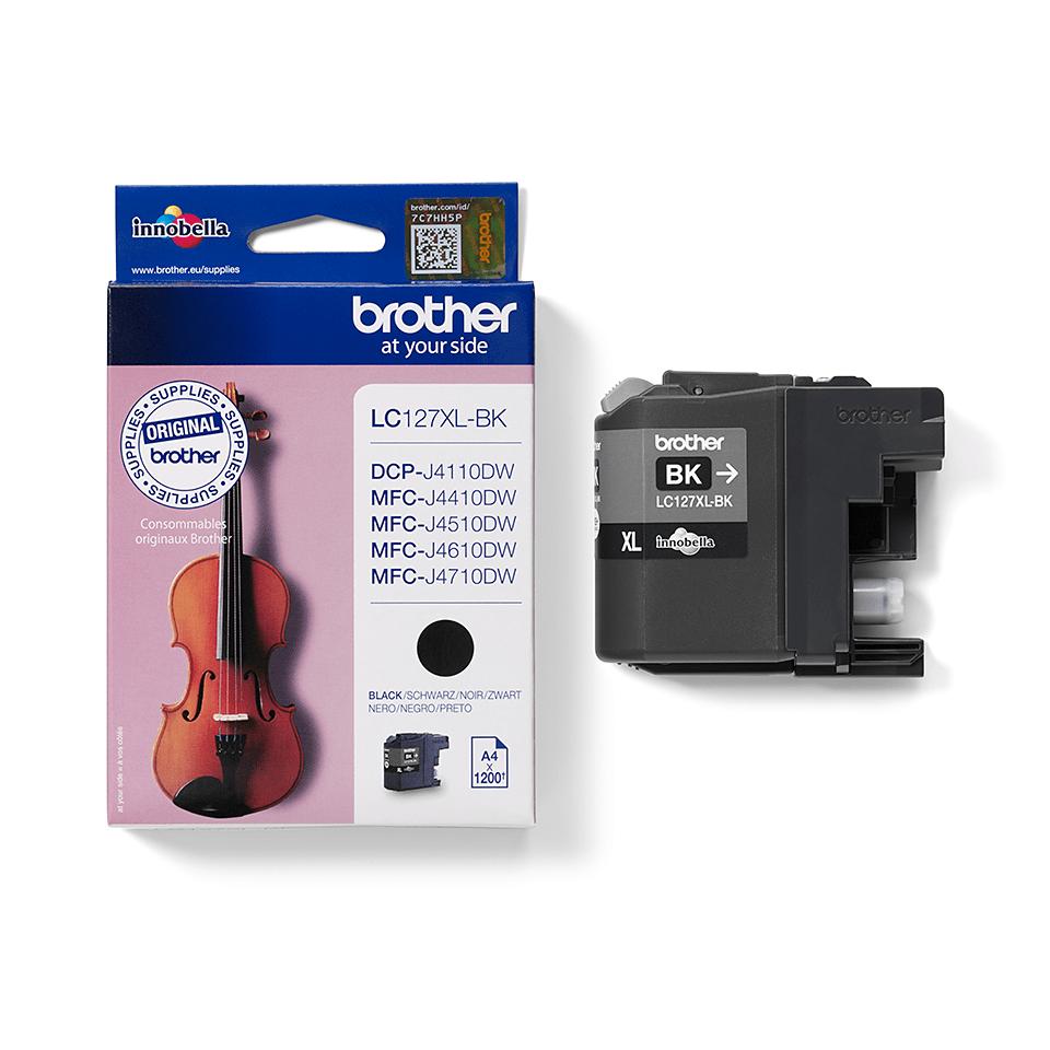 Originele Brother LC-127XLBK inktcartridge met hoge capaciteit – zwart  2