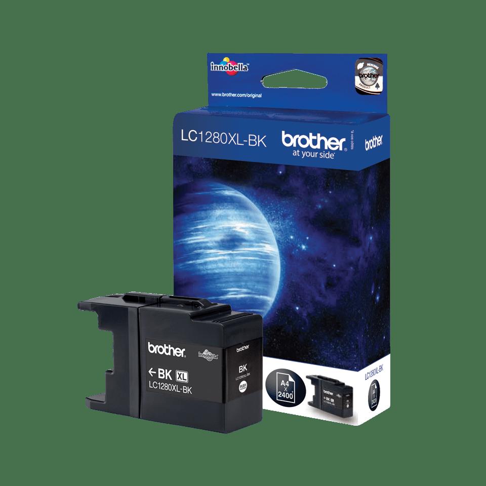 Originele Brother LC-1280XLBK zwarte inktcartridge met hoge capaciteit 2