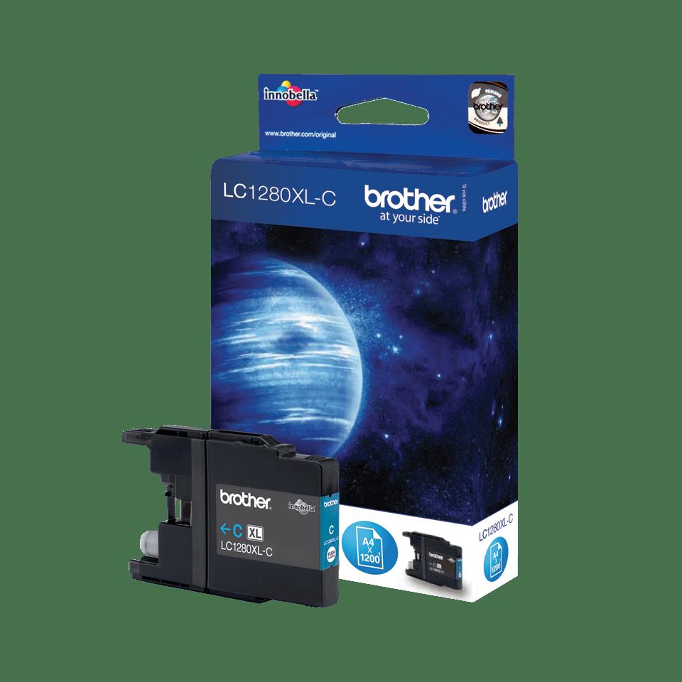 Originele Brother LC-1280XLC cyaan inktcartridge met hoge capaciteit 2