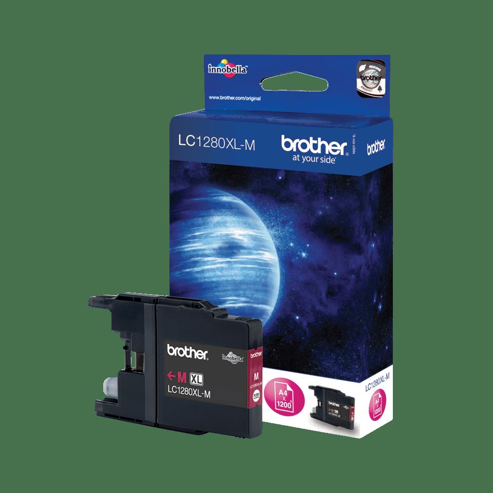 Originele Brother LC-1280XLM magenta inktcartridge met hoge capaciteit 2