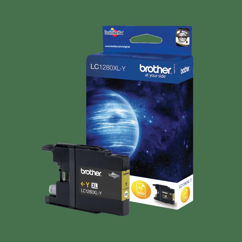 Originele Brother LC-1280XLY gele inktcartridge met hoge capaciteit 2