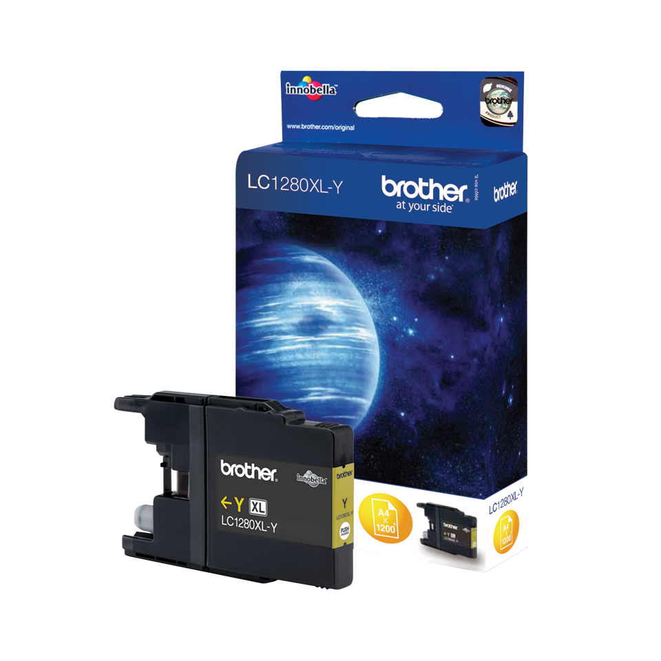 Originele Brother LC-1280XLY gele inktcartridge met hoge capaciteit