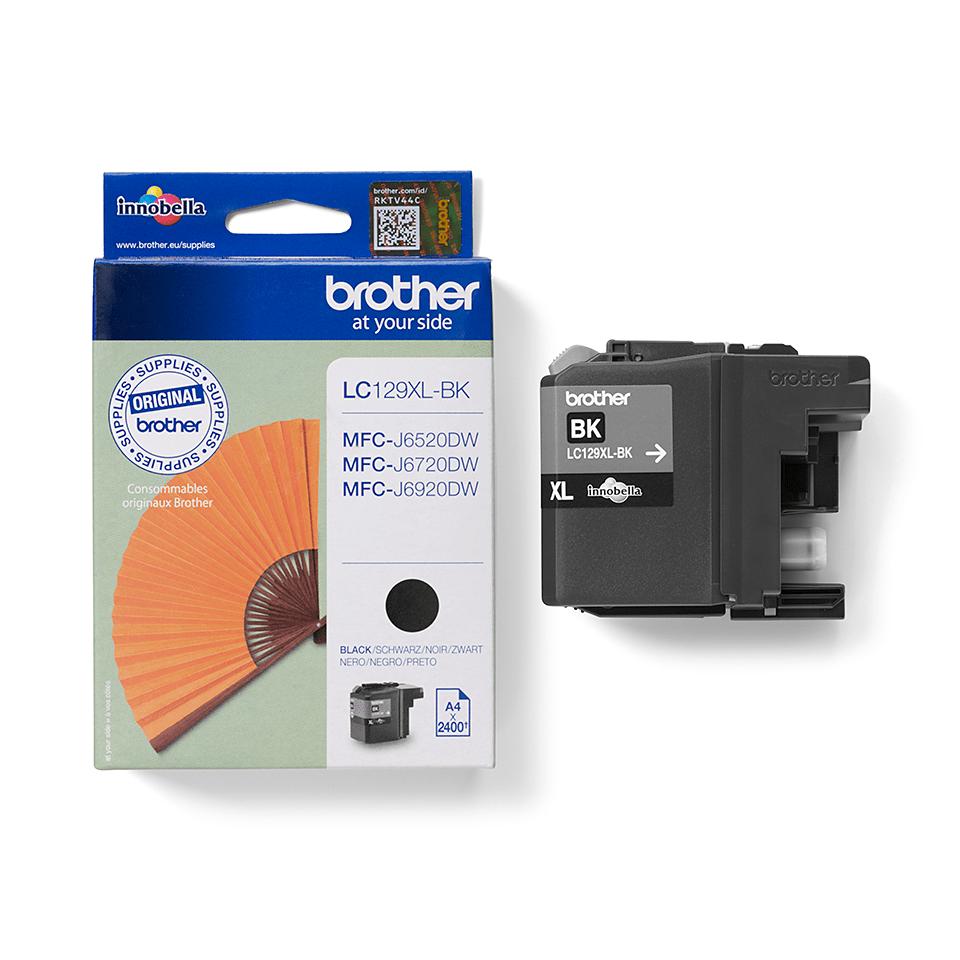 Originele Brother LC-129XLBK zwarte inktcartridge met hoge capaciteit