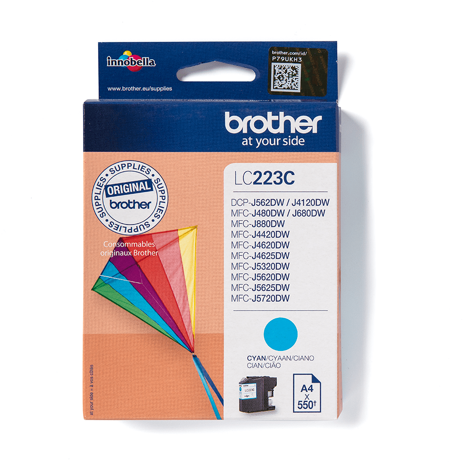 Originele Brother LC-223C cyaan inktcartridge 2