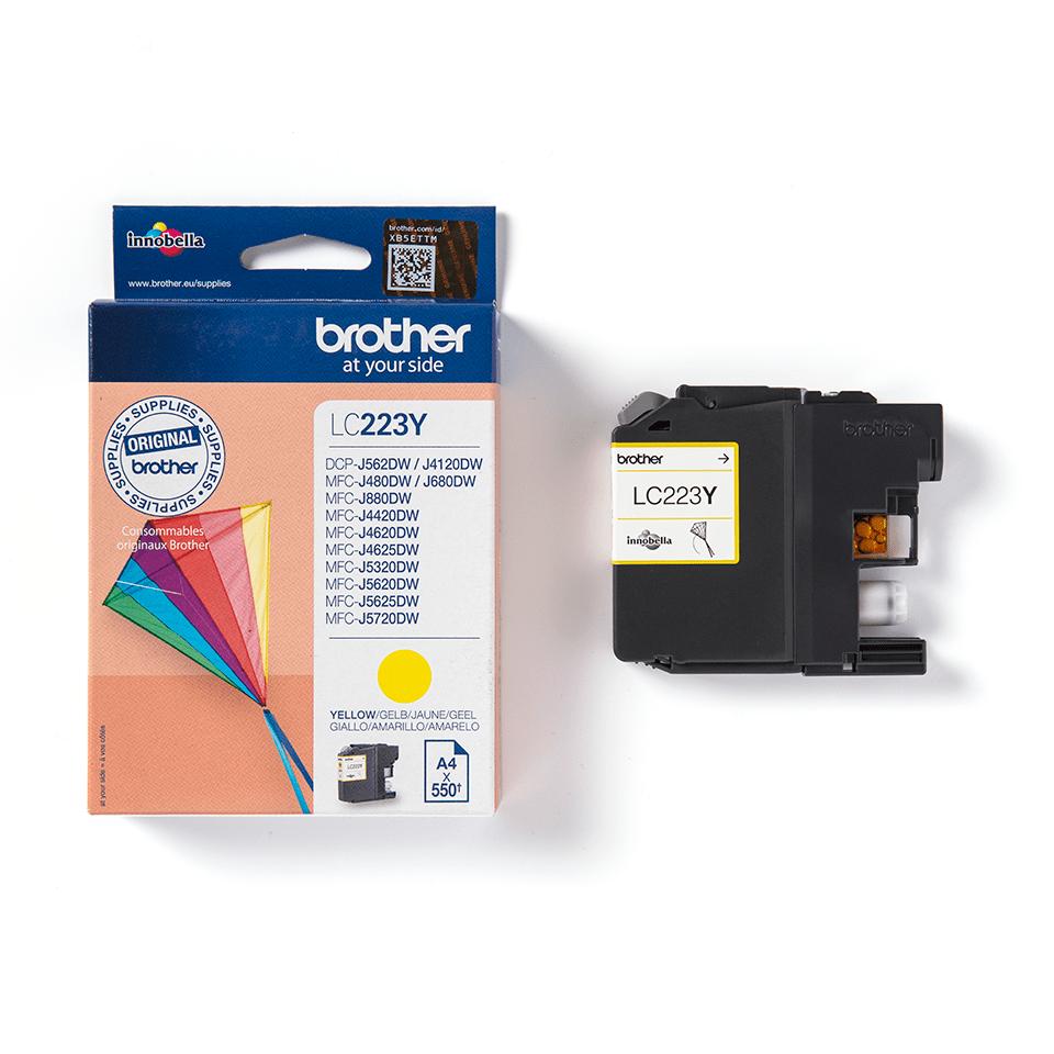 Originele Brother LC-223Y gele inktcartridge 3