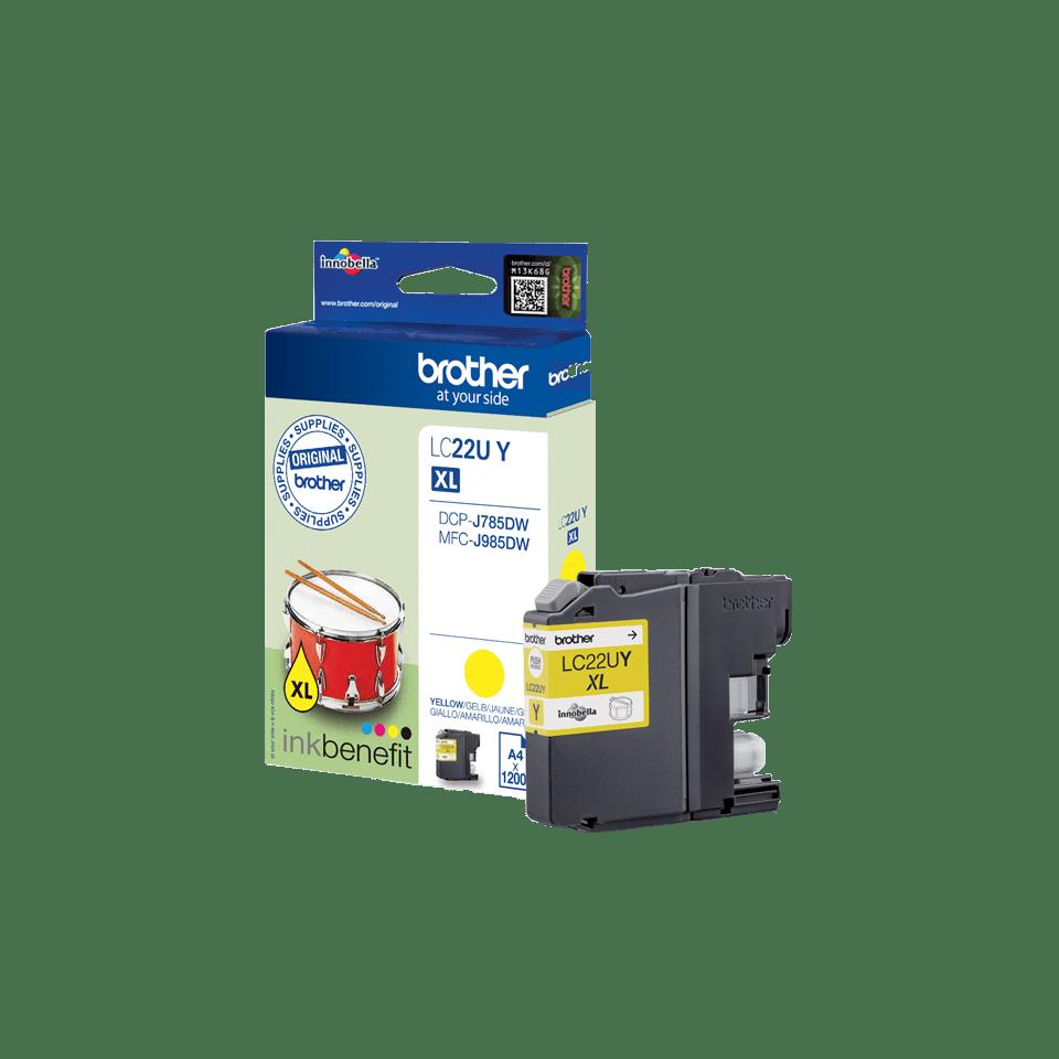 Originele Brother LC-22UY gele inktcartridge met ultra hoge capaciteit