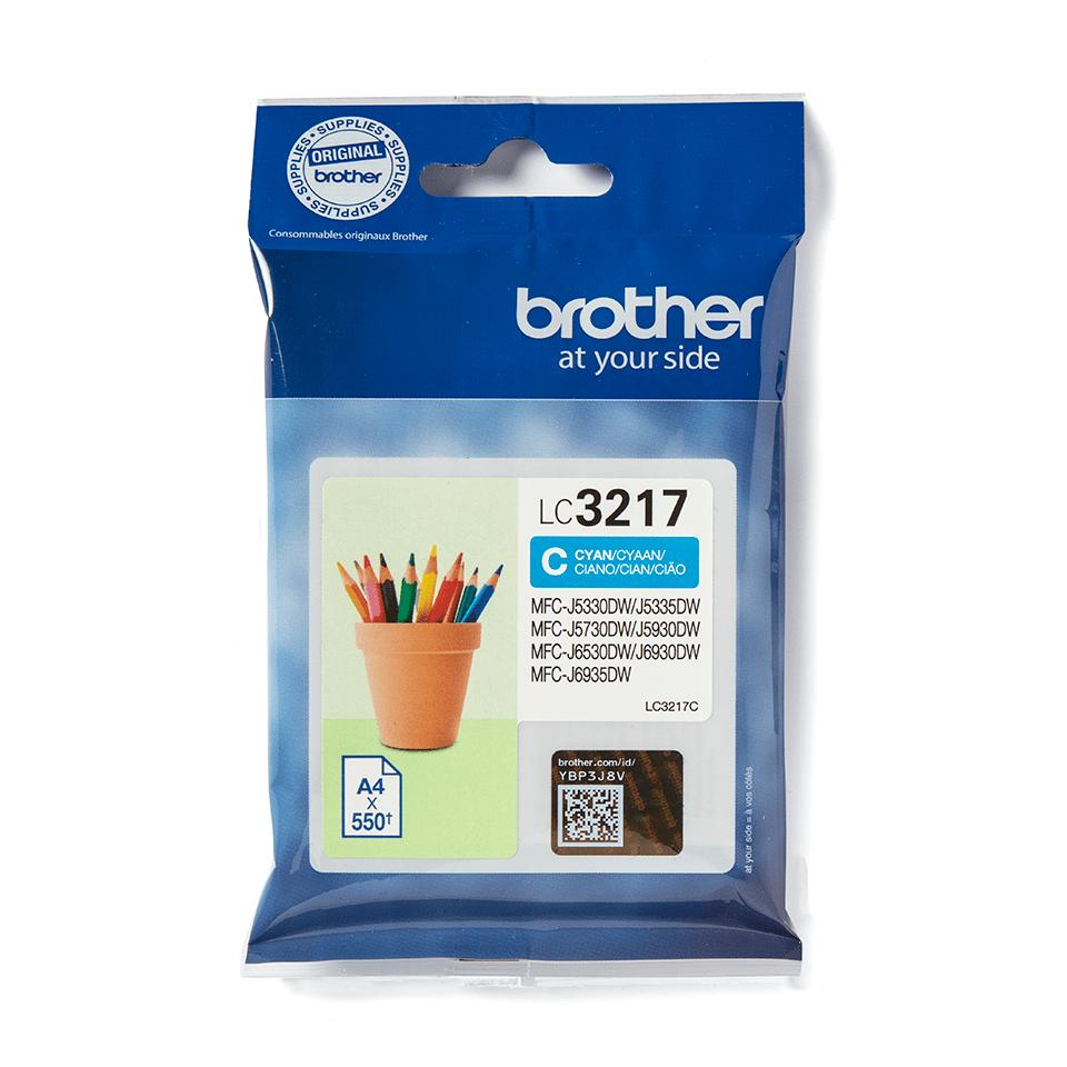 Originele Brother LC-3217C cyaan inktcartridge