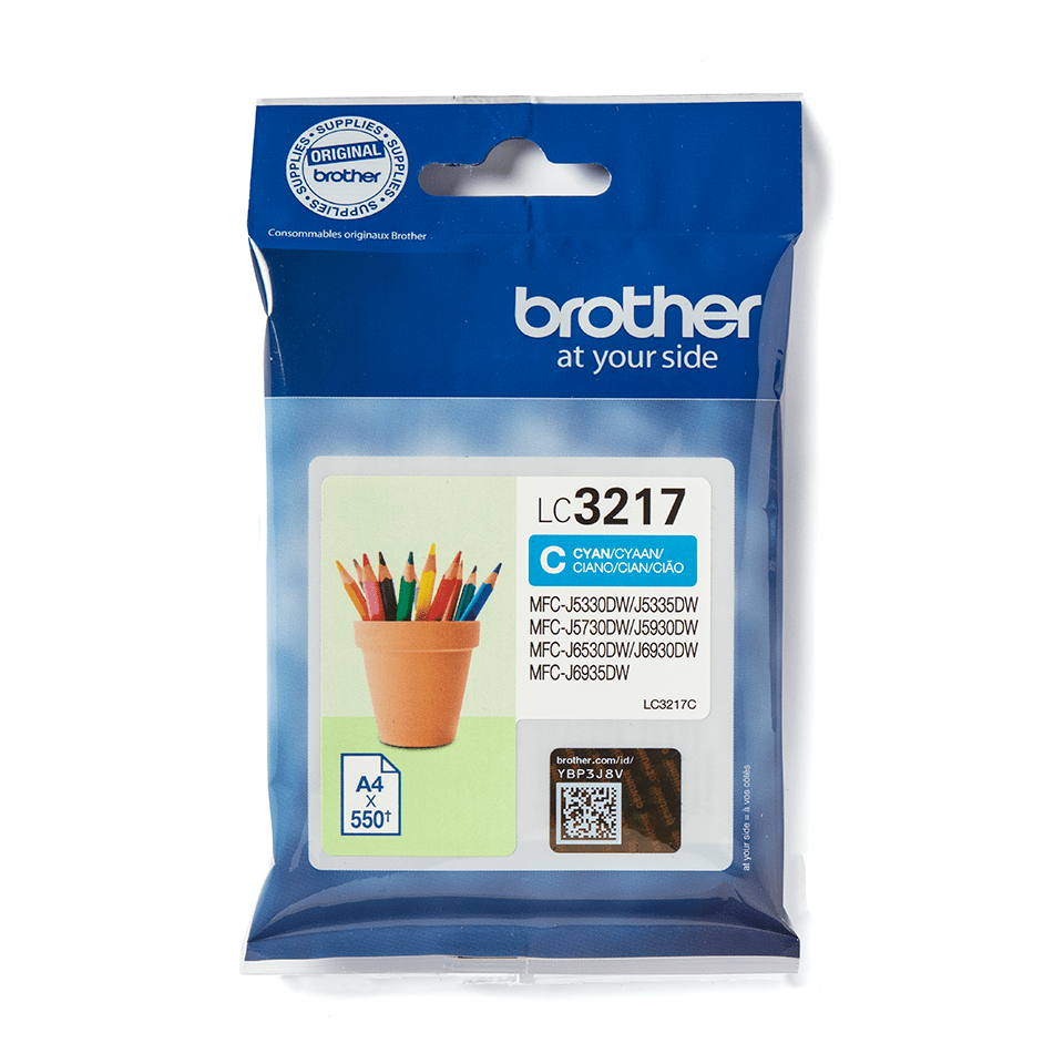 Originele Brother LC-3217C cyaan inktcartridge 2