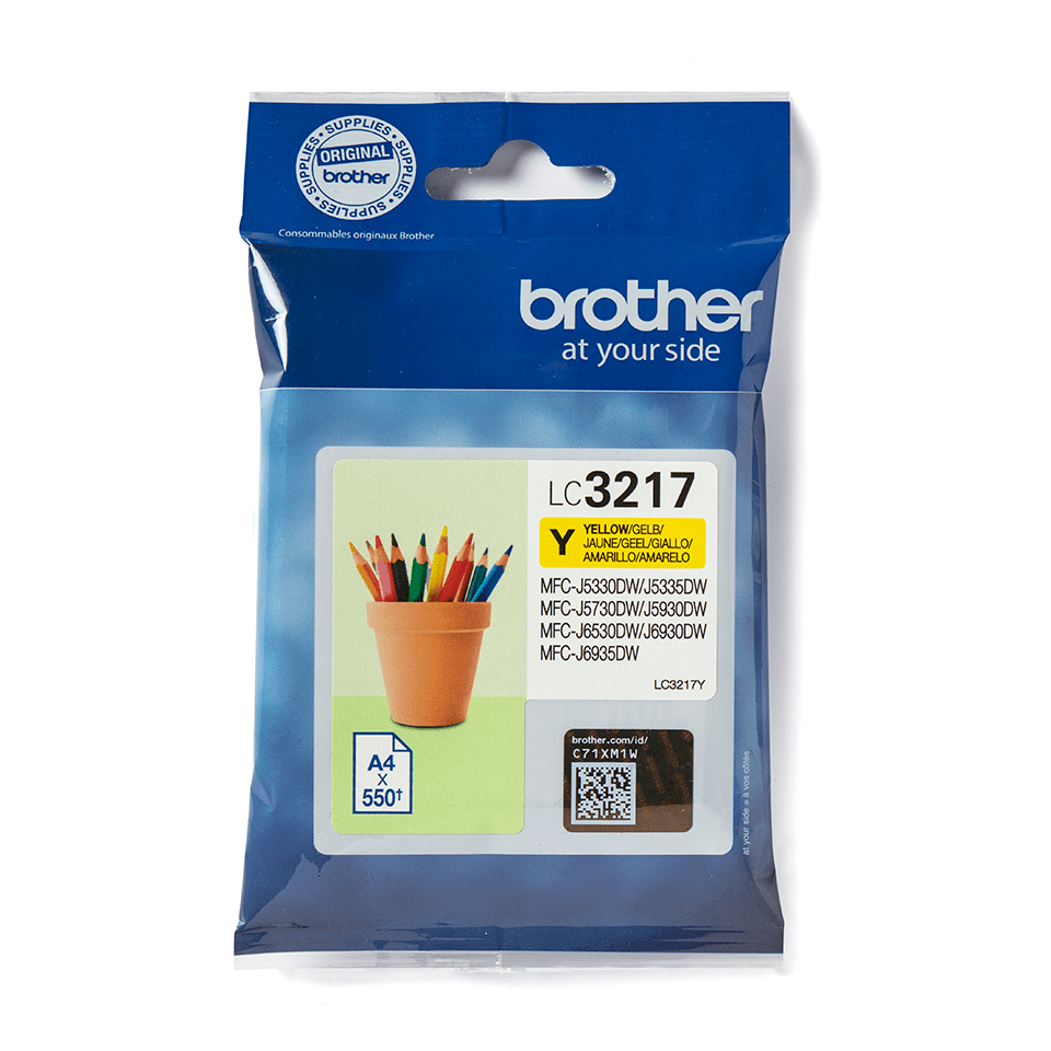 Originele Brother LC-3217Y gele inktcartridge