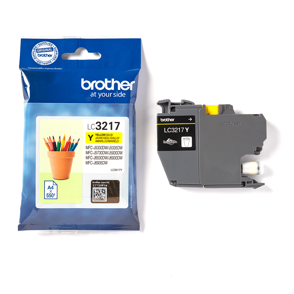 Originele Brother LC-3217Y gele inktcartridge 3