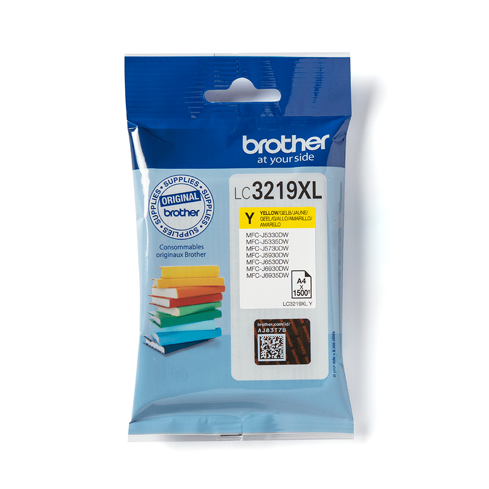 Originele Brother LC-3219XLY gele inktcartridge 2