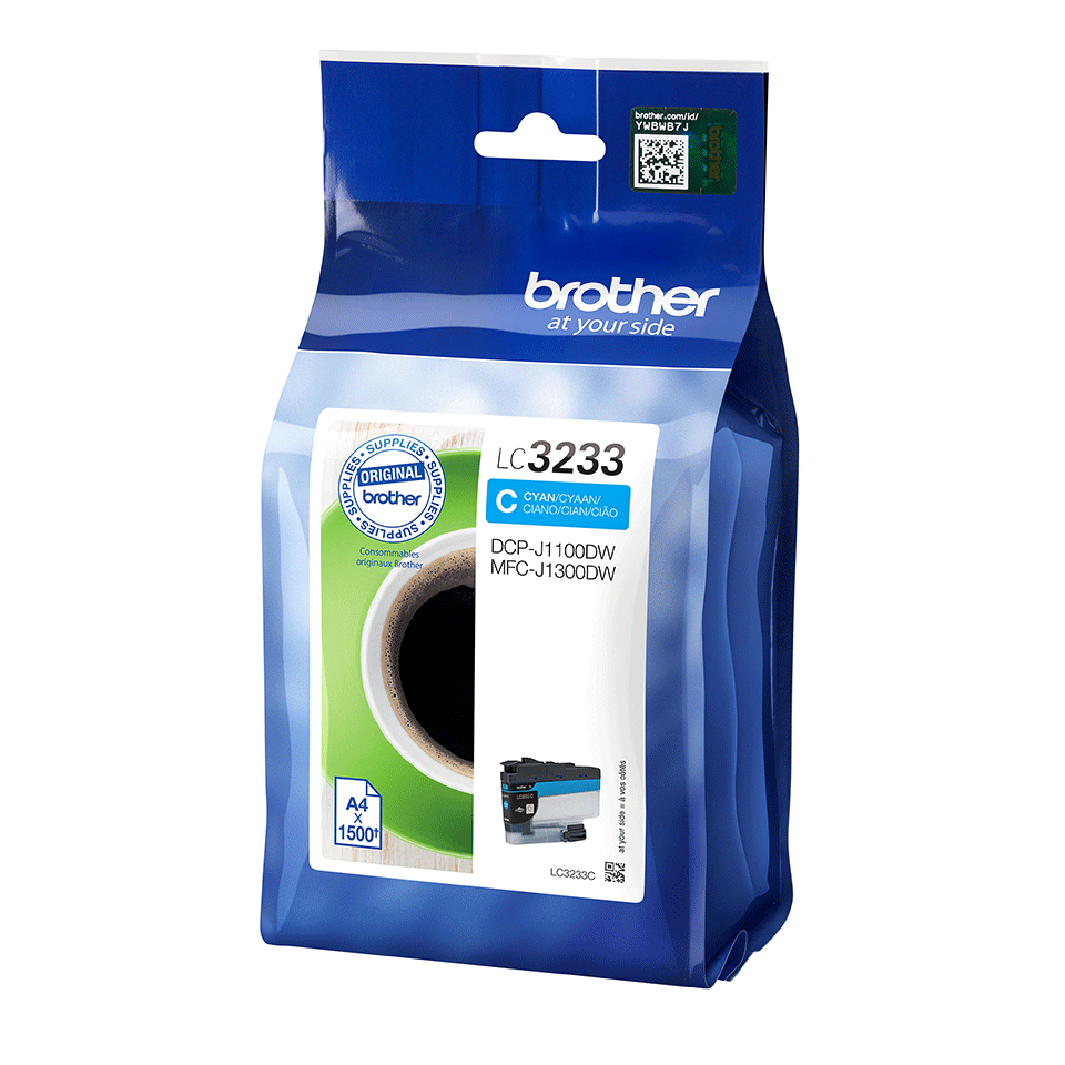 Originele Brother LC-3233C cyaan inktcartridge 2