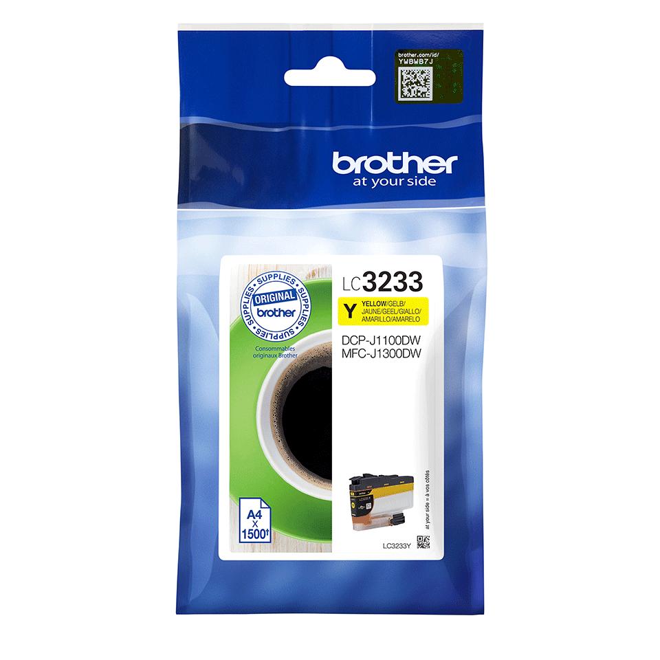Originele Brother LC-3233Y gele inktcartridge 2