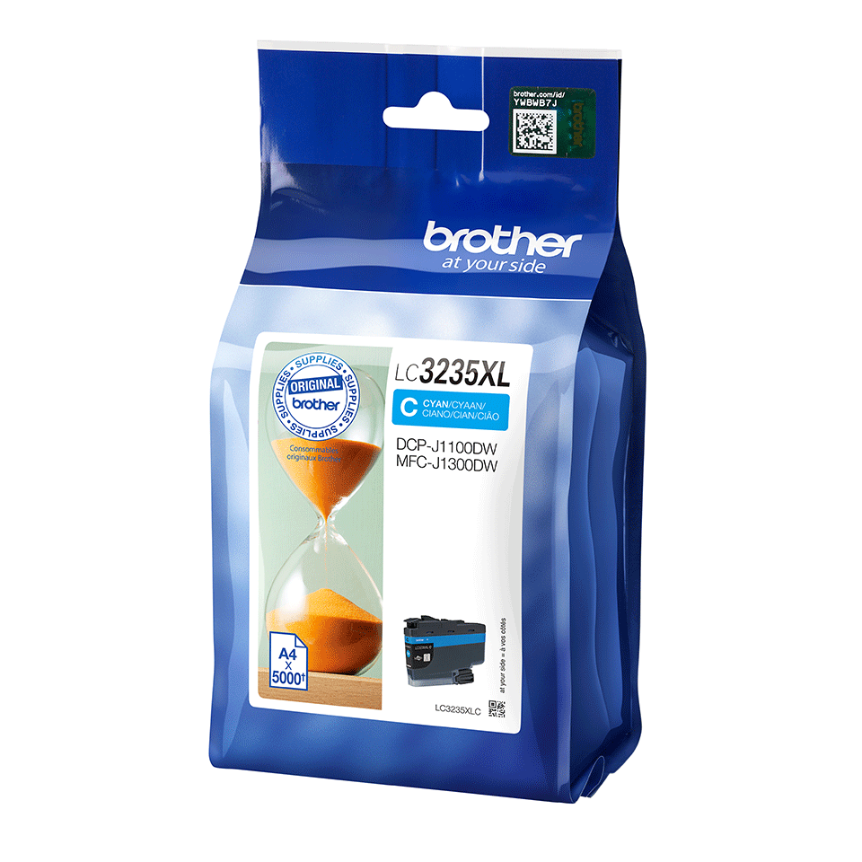 Originele Brother LC-3235XLC cyaan inktcartridge