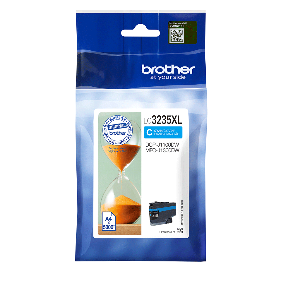 Originele Brother LC-3235XLC cyaan inktcartridge 2