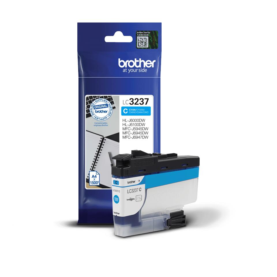 Originele Brother LC-3237C cyaan inktcartridge met hoge capaciteit 3