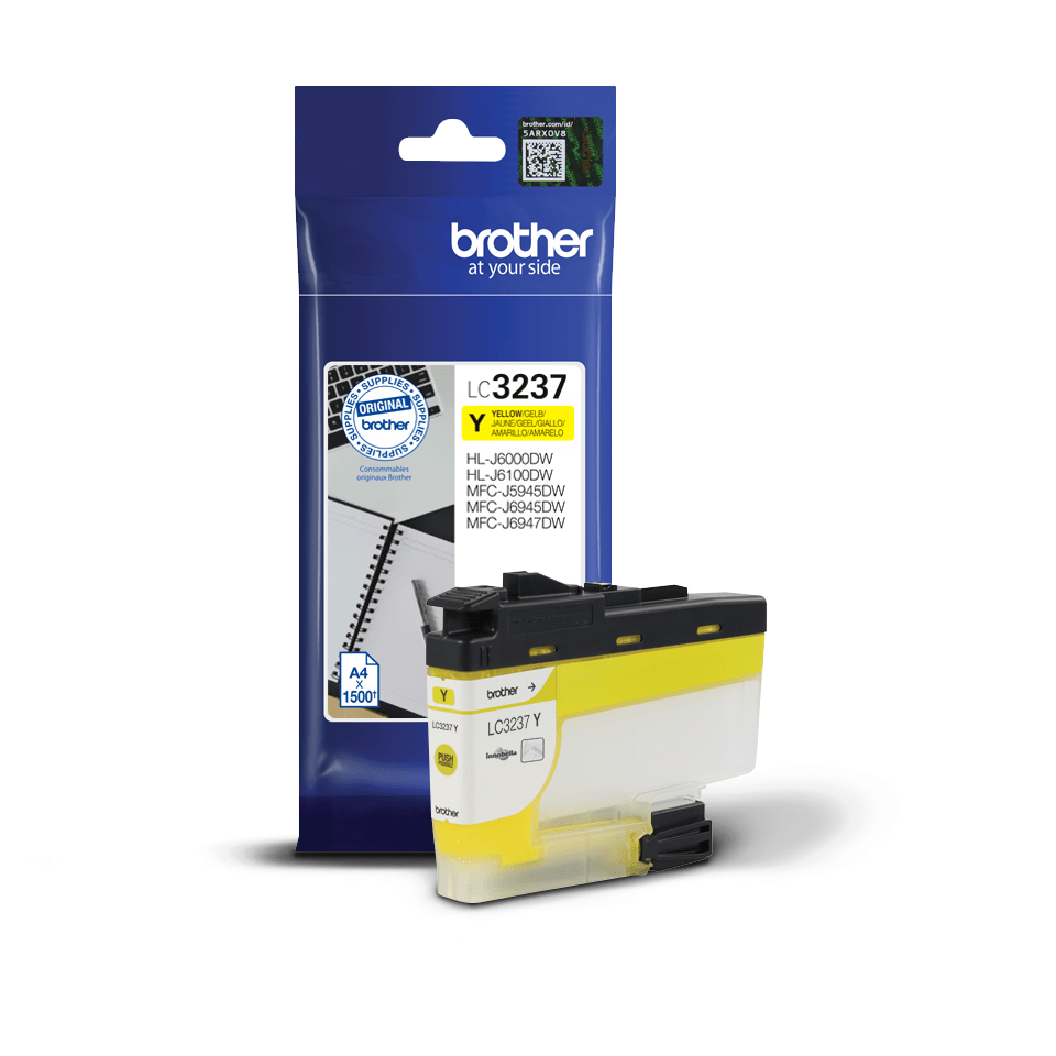Originele Brother LC-3237Y gele inktcartridge met hoge capaciteit 3
