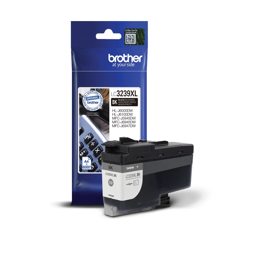 Originele Brother LC-3239XLBK zwarte inktcartridge met super hoge capaciteit