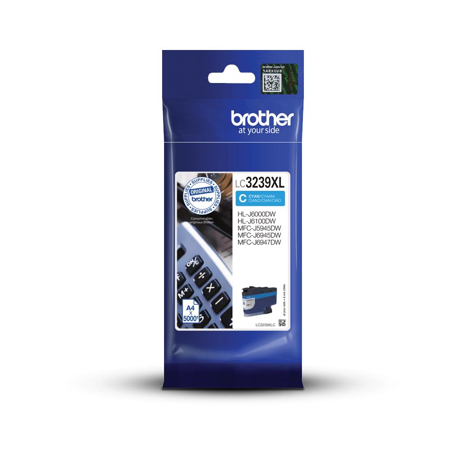 Originele Brother LC-3239XLC cyaan inktcartridge met super hoge capaciteit 3