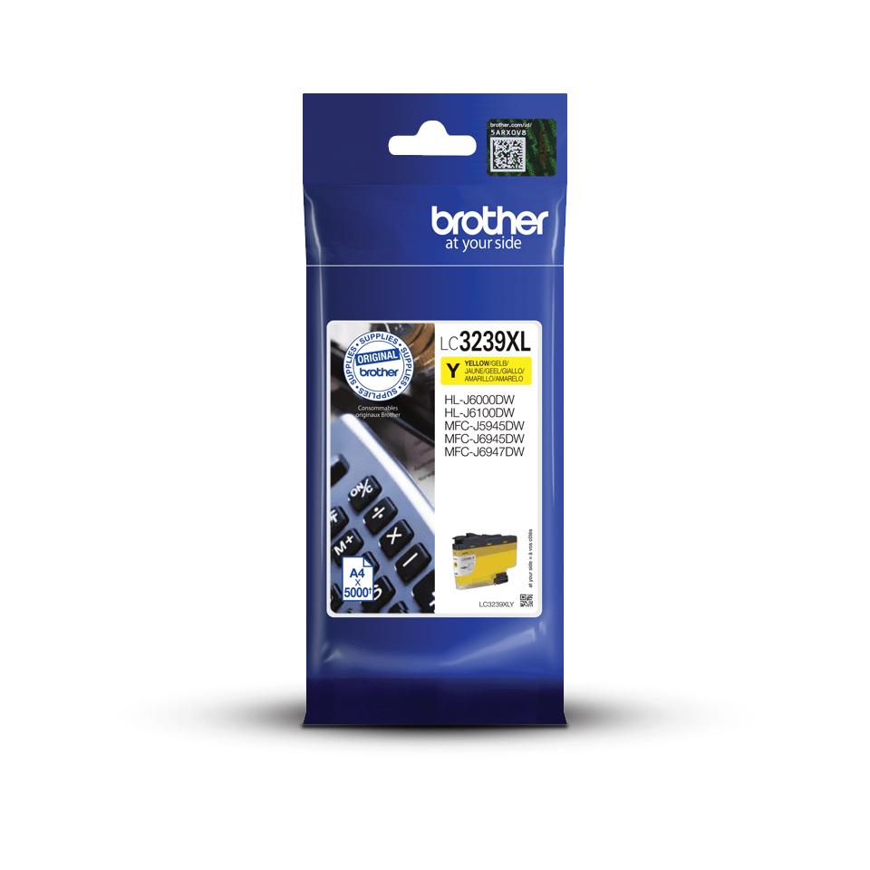 Originele Brother LC-3239XLY geel inktcartridge met super hoge capaciteit 3