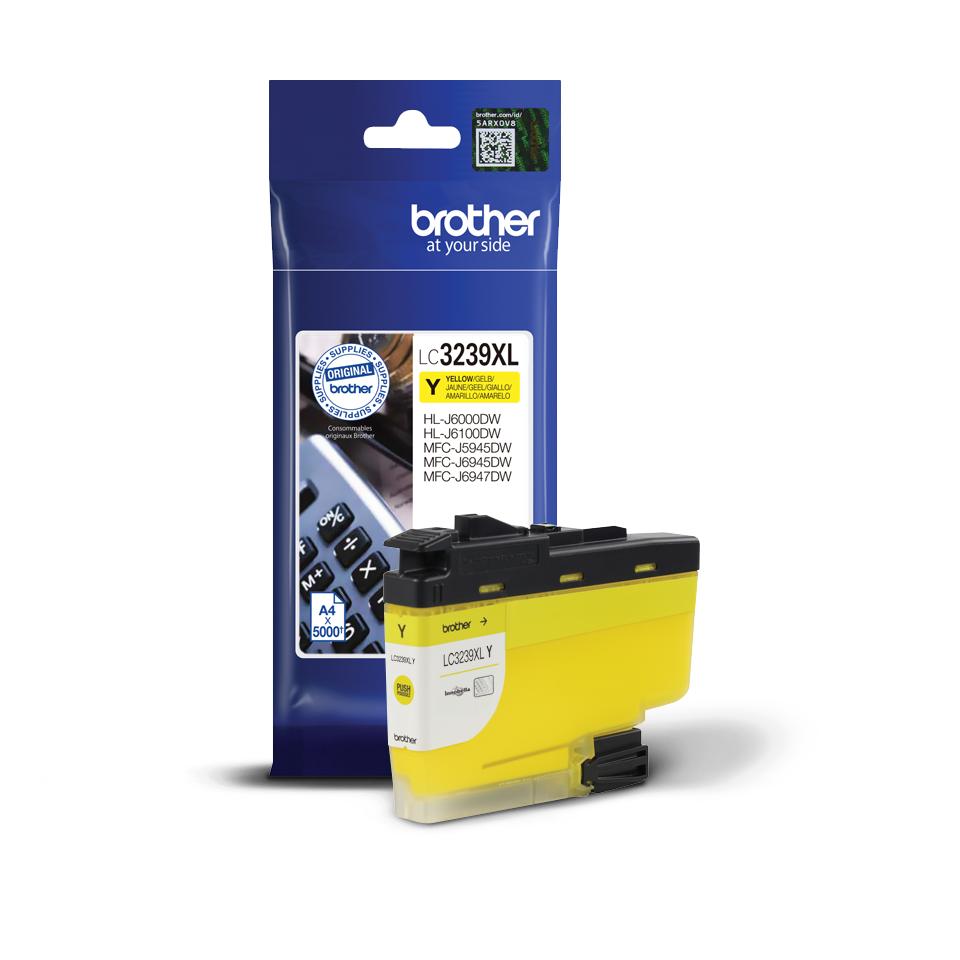 Originele Brother LC-3239XLY geel inktcartridge met super hoge capaciteit 2
