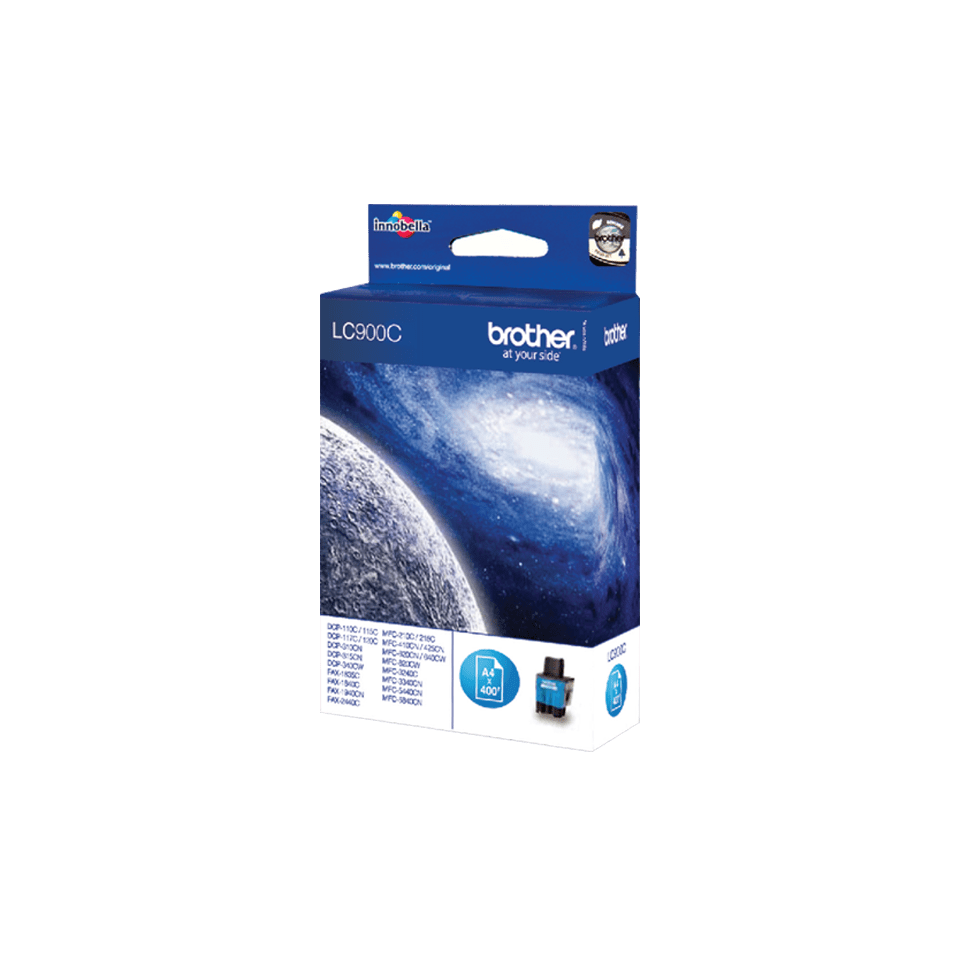 Originele Brother LC-900C cyaan inktcartridge 2