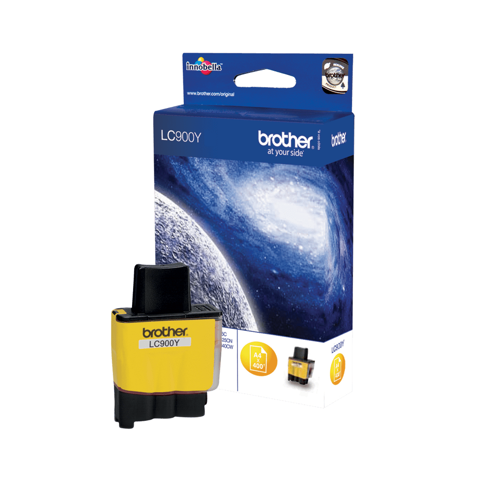 Originele Brother LC-900Y gele inktcartridge 2