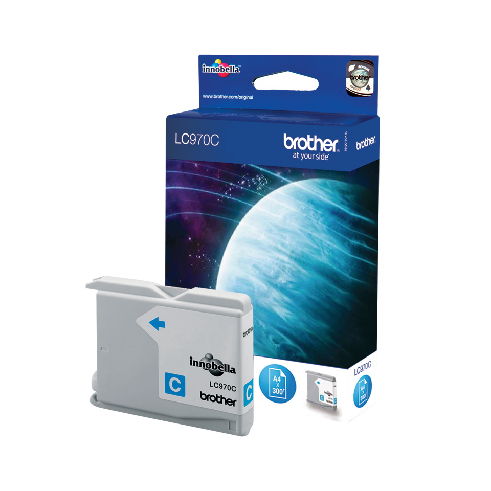 Originele Brother LC-970C cyaan inktcartridge 2