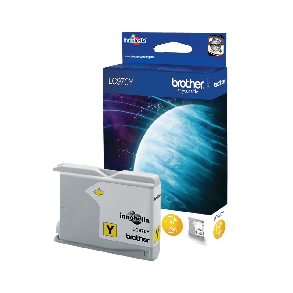 Originele Brother LC-970Y gele inktcartridge 2