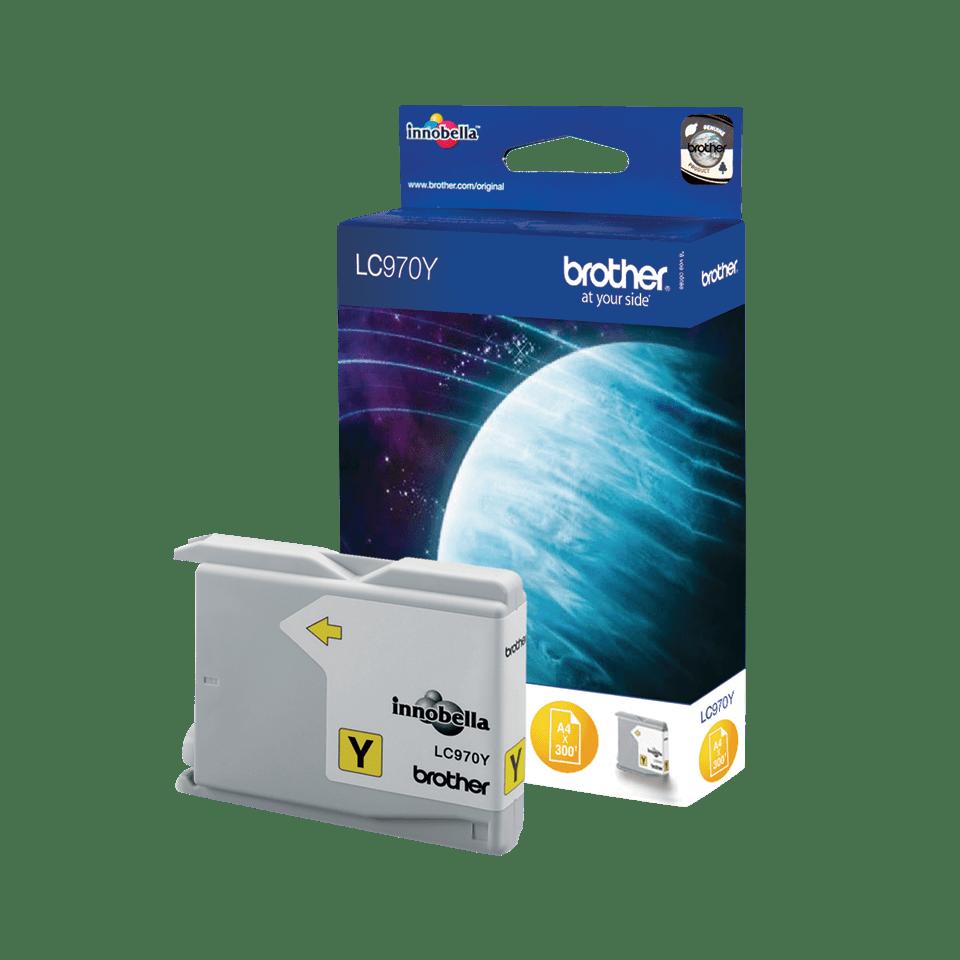 Originele Brother LC-970Y gele inktcartridge 2