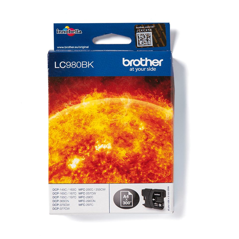 Originele Brother LC-980BK zwarte inktcartridge  2