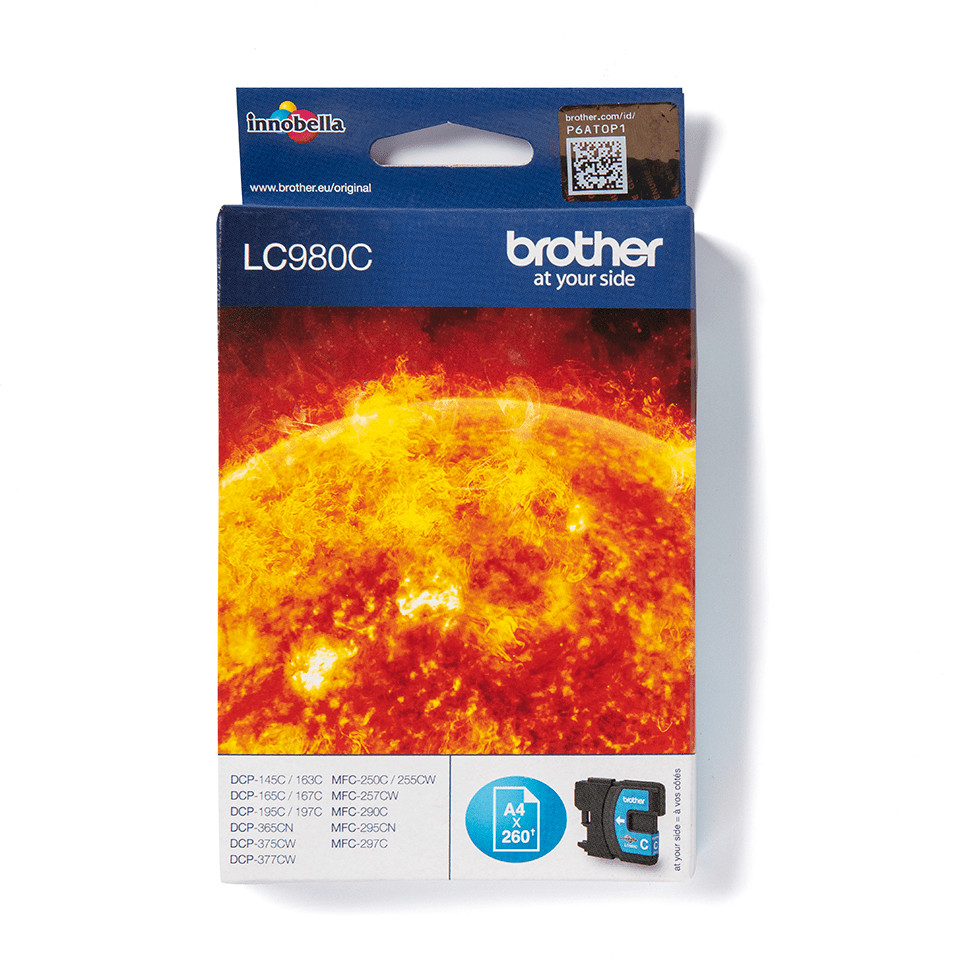 Originele Brother LC-980C cyaan inktcartridge