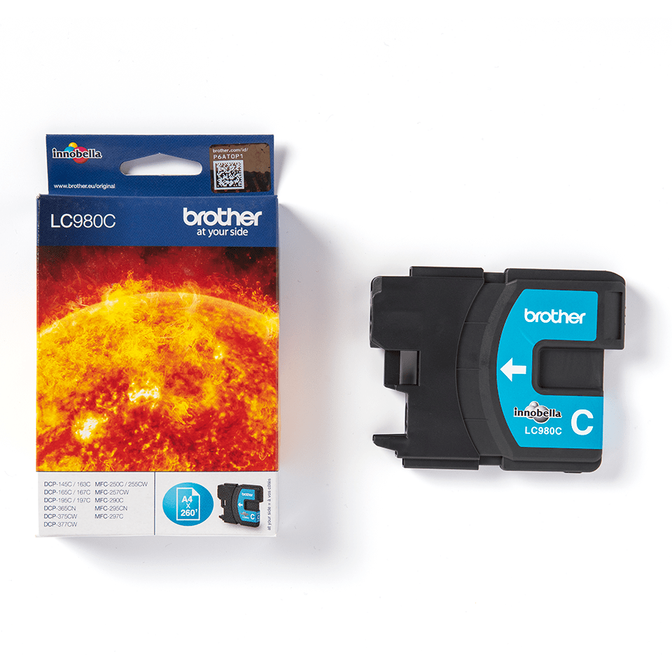 Originele Brother LC-980C cyaan inktcartridge 2