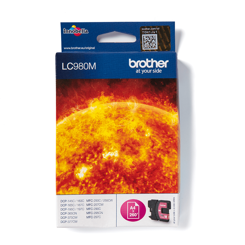 Originele Brother LC-980M magenta inktcartridge 2