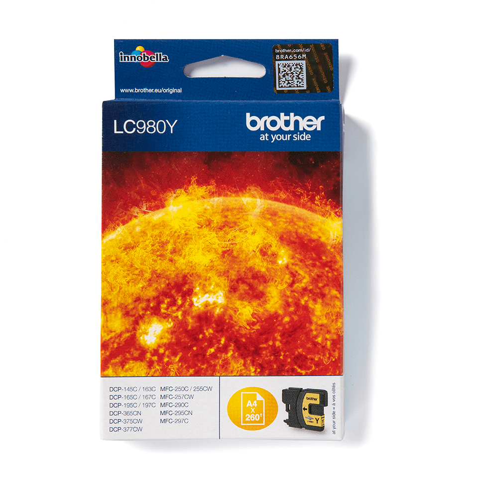 Originele Brother LC-980Y gele inktcartridge