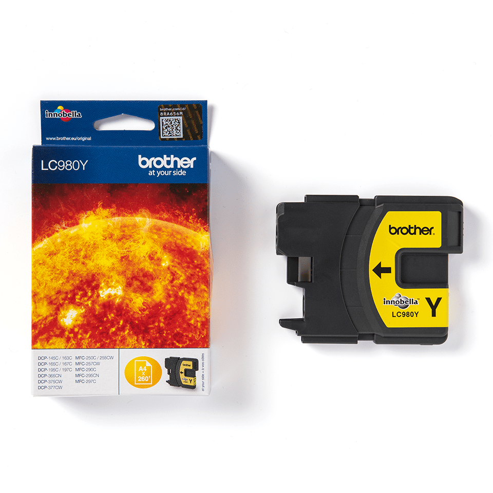 Originele Brother LC-980Y gele inktcartridge 2