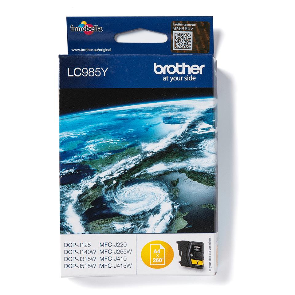 Originele Brother LC-985Y gele inktcartridge 2