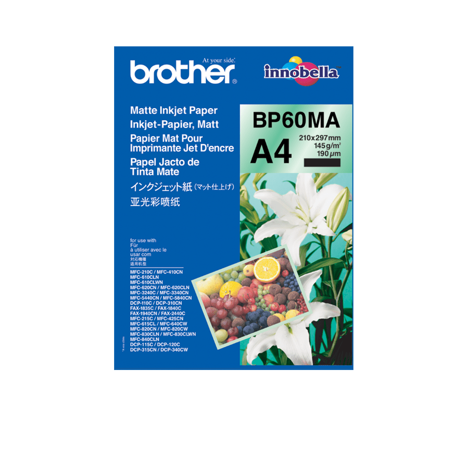 Origineel Brother BP-60MA A4 mat inkjetpapier.